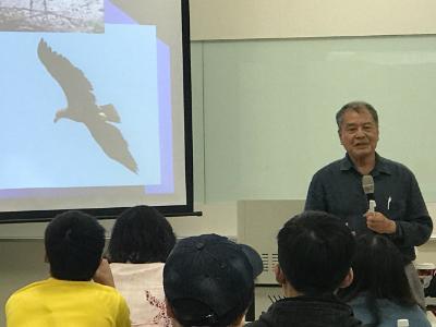 啟發灰面鵟鷹保育觀念 日本宮古島灰面鵟鷹專家久貝勝盛蒞校演講