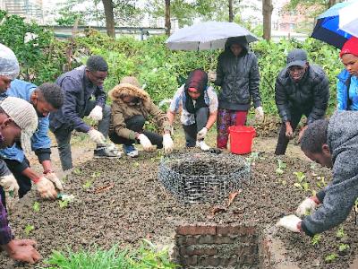 打造社區keyhole garden 長榮大學於大潭社區建構廚餘循環系統