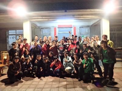 相聚在社區的院子 長榮大學國際生與社區居民歡度感恩餐會