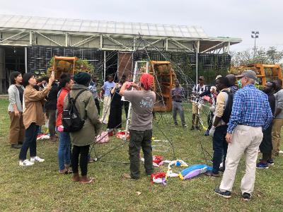 響應地球日  生態教育中心環保地景藝術創作開跑