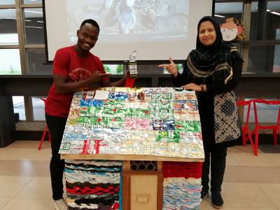 響應世界環境日 長榮大學永續發展學程舉辦「垃圾到寶藏展覽」創作廢棄物二次生命