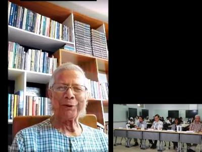 知史鑑今 不蹈覆轍  長榮大學與尤努斯博士共同辦理後疫情時代社會責任研討會