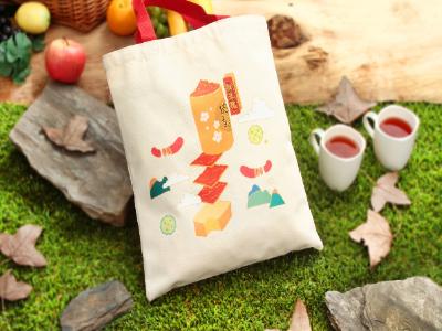 長榮大學媒體系吳可薇作品  獲新東陽商品化「食食刻刻環保袋」