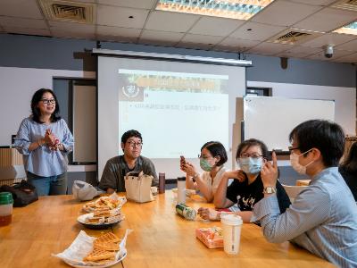 長榮大學午餐共學交流  秘書長管美燕:宣傳要以心傳心、以人傳人