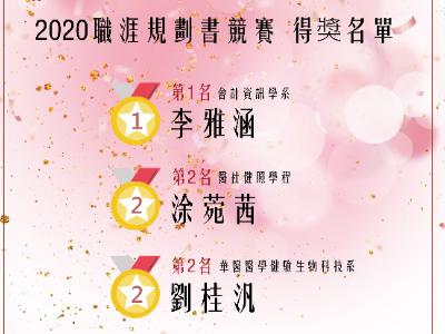 長榮大學首屆「職涯養成規劃書」競賽 會資系、醫社學程、財金系、營養系榮獲前三名佳績