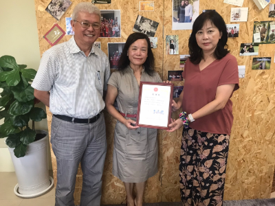 長榮大學感恩之旅 首站拜訪台南市仁仁森林幼兒園董事長林秀碧女士