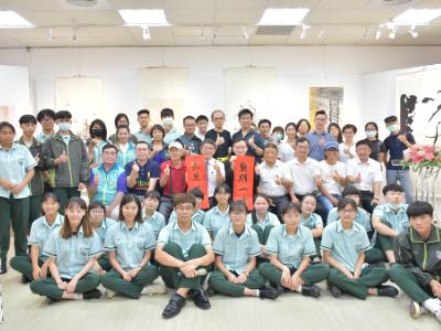長榮大學、竹崎高中舉辦「藝期一繪」師生彩墨書法聯展