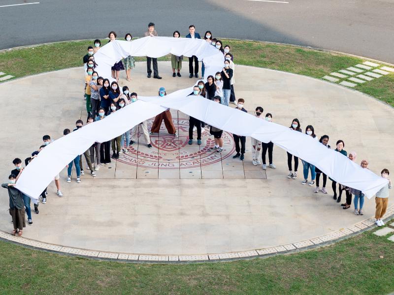 響應「國際終止婦女受暴日」 長榮大學師生高舉白絲帶
