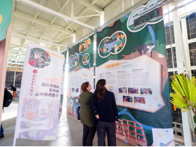 長榮大學生態中心開館  珍古德展傳達根與芽精神