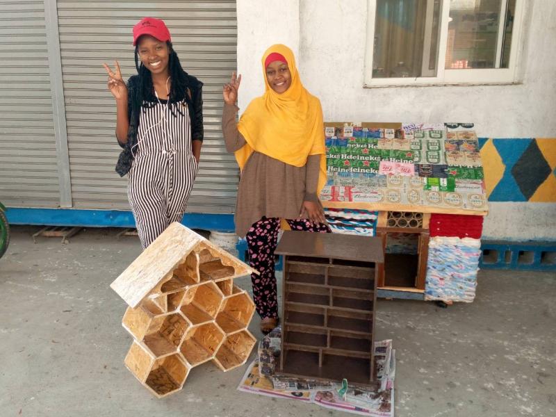 校園廢棄板材再利用 打造獨居蜂旅館營造生物多樣性環境