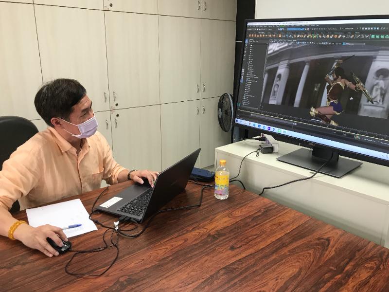 長榮角川3DCGアニメーションコース鄧偉炘主任 国際的なアニメ人材育成を推進