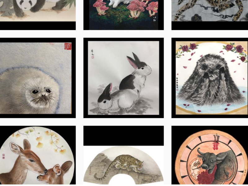 Online Exhibition of Water Ink Painting of Cursorial Animals to Celebrate the Dragon Boat Festival with You Presented by Sophomores of DCPA, CJCU